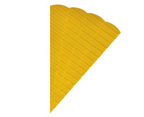 folia 93014 - Geschwister Schultüten Rohlinge, aus 3D Wellpappe, gelb, 5 Tüten, Höhe 41 cm, Durchmesser 14,5 cm - zur Erstellung einer individuellen selbst gebastelten Zuckertüte für die Geschwister