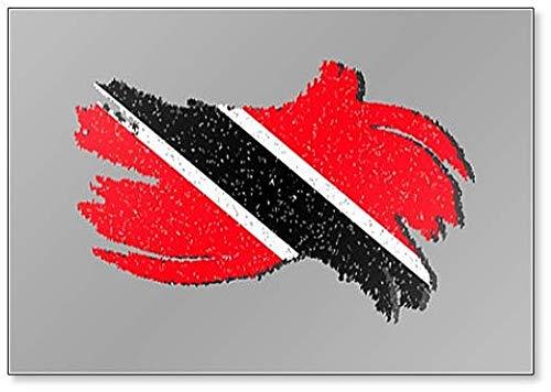Grunge Flagge von Trinidad & Tobago mit Shadow Illustration Kühlschrankmagnet