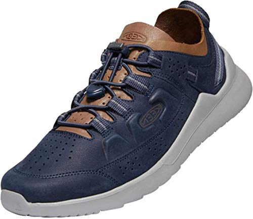 KEEN Herren Highland Leather Casual Turnschuh, Blue Nights/Drizzle, 41 EU