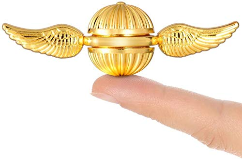 MOSOTECH Fidget Hand Spinner Gift for Fans of The Medieval Magical Wizardry World, Stress Anxiety ADHD Relief Figets Toy Made by Metal with High Speed Low Noise Steel Bearing - Golden Color