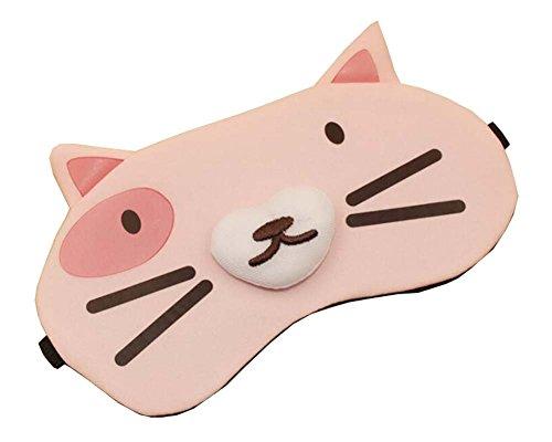 Masque d'oeil pour dormir Lovely Pink Cat Design