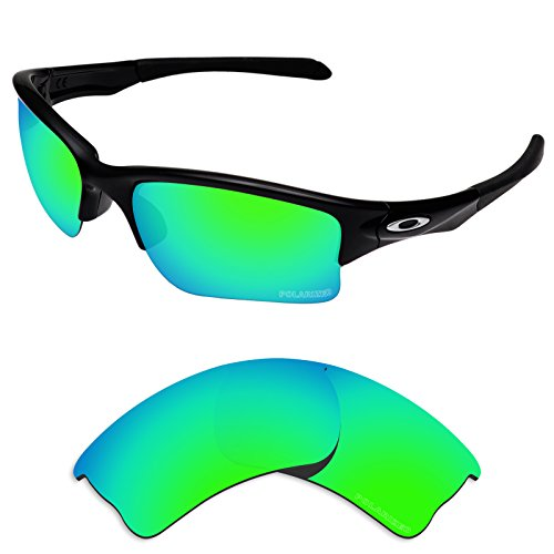 Tintart Performance Lenses Compatible with Oakley Quarter Jacket Polarized Etched-Emerald Green
