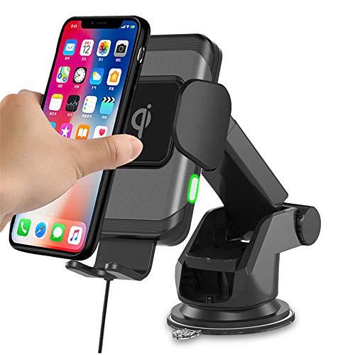 LVYE1 MRMF Cargador de Coche inalámbrico Qi de 15 W, Carga rápida Vent+salpicadero Soporte de teléfono de Coche Compatible con iPhone 12 Series Galaxy S20 S10 LG V50