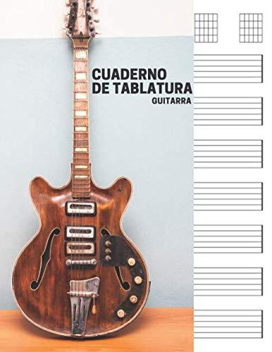 Cuaderno de tablatura guitarra: 7 tabs por página. Ideal...