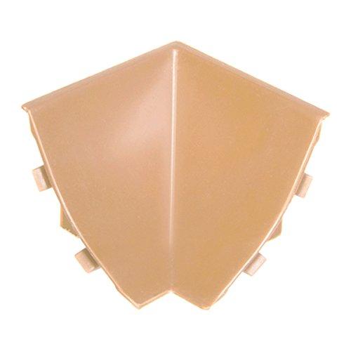 HOLZBRINK Innenecke passend zu Abschlussleisten Buche, Innenkante PVC Küchenabschlussleiste 23x23 mm