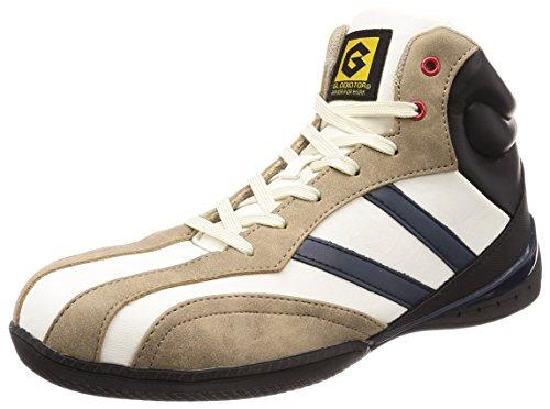 [コーコス信岡] 安全作業靴 先芯入り ミドルカット スタビライザー搭載 グラディエーター メンズ ホワイト 26.0cm