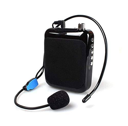 ZOUSHUAIDEDIAN Amplificador de voz portátil Auricular con micrófono con cintura de maestros aula, altavoces, instructores de yoga, Directores de gimnasio, entrenadores, Presentaciones, personas mayore