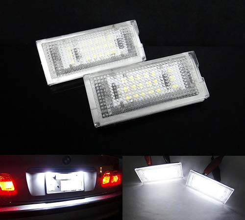 2 x LED licence lampe de plaque d'immatriculation Blanc Canbus pour 1998–05 E46 série 3 berline Break Hatchback