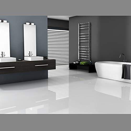 ECD Germany Radiador toallero de baño Cromo - 500 x 1400mm -...