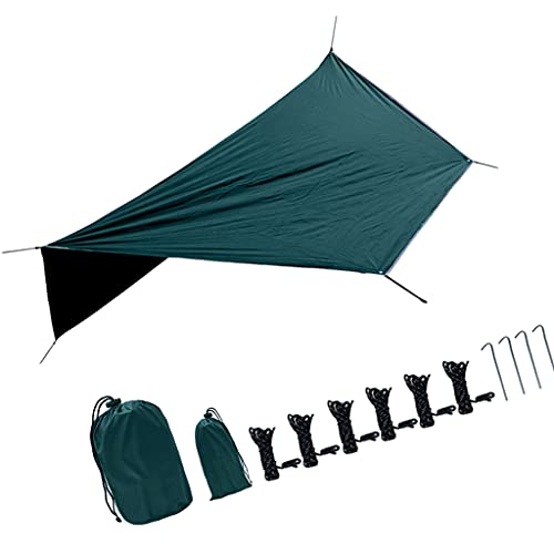 Hellery #N/A 360x280CM wasserdichte Plane Tragbare Outdoor Camping Reise Markise Backpacking Tarp Shelter Regen Plane Baldachin Markise Langlebige Abdeckungen mit -...