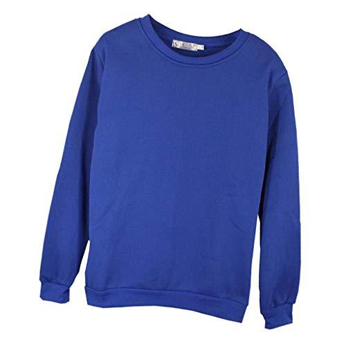 Sharplace Sweat en Molleton Décontracté pour Hommes Femme - Bleu, 4XL