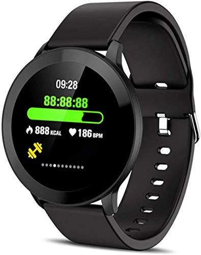 Impermeable IP68 rastreador de salud Bluetooth reloj inteligente, contador pulsera deportiva, adecuado para Android/LOS-Negro a