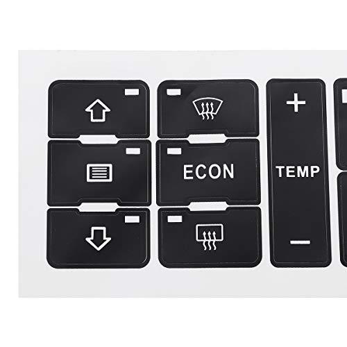 Chengxin Car Decals Fix Faded Feo Pegatinas de Coches de Coches de Control de acondicionamiento de Aire Pegatinas Interruptor de botón de reparación para Kit A2 / A3 8L A/C Botón de reparación