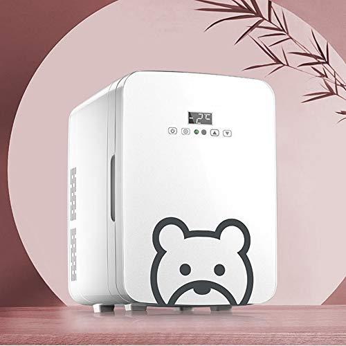 Yucong Mini Cosmétiques Frigo de Chambre 10L Réfrigérateur Silencieux Voiture Portatif Refroidisseur et Réchauffeur Thermoélectrique Portable 12V DC / 220V AC [Classe énergétique A++]