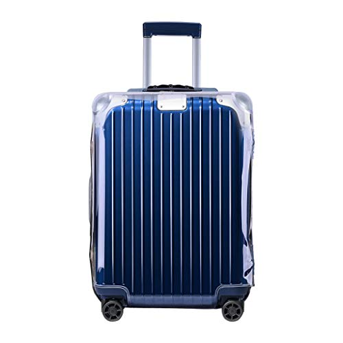 """RainVillage Luggage Covers Luggage Protector Clear PVC Suitcase Protective Case with Zipper Closure for Rimowa Hybrid Check-In M (88363,26"""")"""