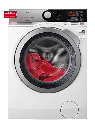 AEG L7FE78695 Waschmaschine / AutoDose - automatische Waschmitteldosierung / ProSteam - Auffrischfunktion / 9 kg / Leise / Mengenautomatik / Nachlegefunktion / Wifi Vernetzung / Allergikerfreundlich