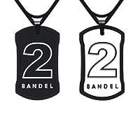 BANDEL(バンデル) ナンバーネックレス(ブラック×ホワイト)No.2 (45cm 縦30mm横18mm) 4580094433565