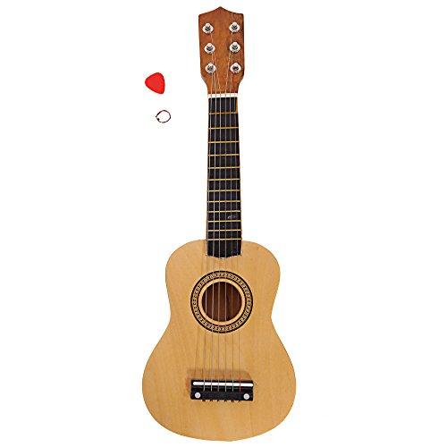21 inch Beginner Acoustic Guitar Starter Kit Kids,Acoustic Guitar for Starter Beginner Music Lovers Kids Gift,Christmas Gifts for Children,Wood Color