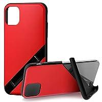 カンピーノ campino iPhone 11 ケース OLE stand スタンド機能 耐衝撃 スリム 動画 Qi ワイヤレス充電対応 ブライト レッド 赤 BASIC