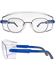 PAERDE Safety Goggles Over Glasses Protective Glasses, Anti-Fog Goggles Over-Spec Glasses, UV400 Eye Protection