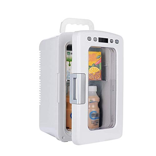 SYLOZ Mini Refrigerador Compacto, Perfecto for Mantener Oficina Almuerzo Fresco!Refrigerador con la Tranquilidad Ventana AC/DC de alimentación Compatibilidad de Suministro