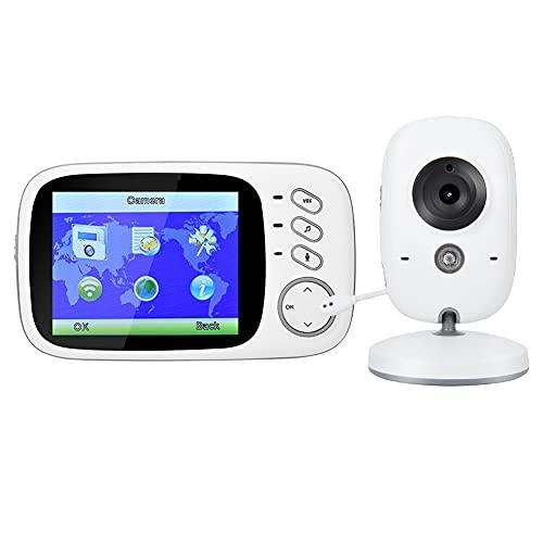 Cámara de videovigilancia, control de temperatura del monitor del bebé inalámbrico portátil para MONITOR BABY (reglamentos británicos (100-240V))