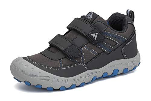 Mishansha Zapatillas de Senderismo Niño Antideslizante Zapatillas Running Gris 24