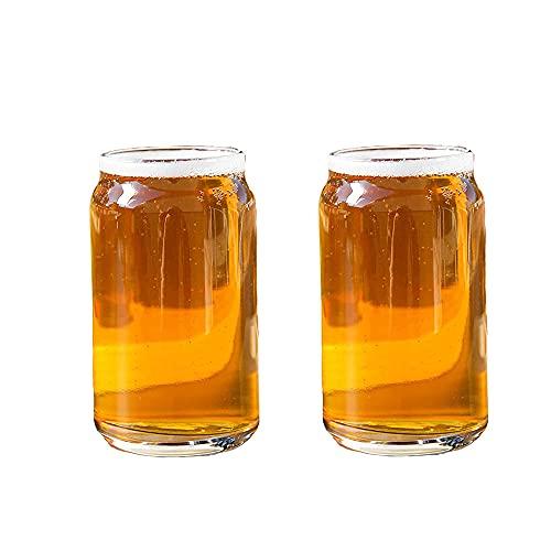Puede en forma de vasos vasos vasos vasos vasos de cóctel vasos de whisky vasos de cerveza vasos de café helado vasos de té vasos de beber 2 piezas Set