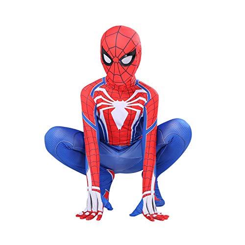 Kids Spiderman Body Miles Miles Morales Mscara Halloween Cosplay Disfraces Performance Jumpsuit Zentai 3D Impreso Estupado Super Heros Mallas Onesies,H-M100~110cm