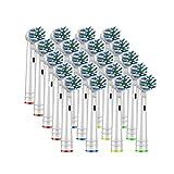 HANLILI kasu 20pcs Cepillo de Repuesto Cabezales Ajuste for el Cepillo de Dientes eléctrico Oral B Antes de Power Pro Health 3D Excel Clean Precision Vitality