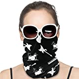 Unisex Balaclavas Musical Instruments Repeating Pattern Windproof Face Scarf Dust Sun Protection Face Cover Multifunctional Variety Head Scarf for Outdoor Sport Running Hiking,Etc Black