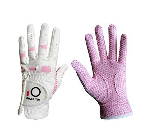 Houer Finger Ten Frauen Golfhandschuhe Damen Rechtshänder Golfer Rain Grip FitAllwetter Golfhandschuhe, auf der rechten Hand getragen, klein - 19