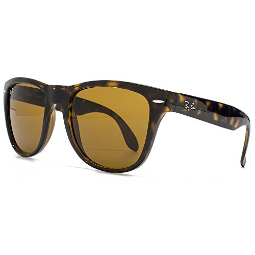 Ray-Ban Gafas de sol Wayfarer plegable en Light Havana Crystal Brown RB4105 710 54