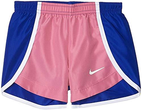 Nike Girl`s Dry Tempo Running Shorts (Magic Flamingo(36F095-ACG)/Blue, 6 Little Kids)