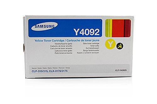 Samsung CLP-315 N - Original Samsung CLT-Y4092S / Y4092 - Cartouche de Toner Jaune - 1000 pages