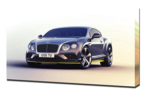 Lilarama 2016-Bentley-Continental-GT-Speed-Breitling-Jet-Team-Series-V1-1080 - Art Leinwandbild - Kunstdrucke - Gemälde Wandbilder