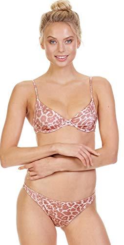 Tori Praver Women's Soleil Leopard Underwire Bikini Top Leopard L