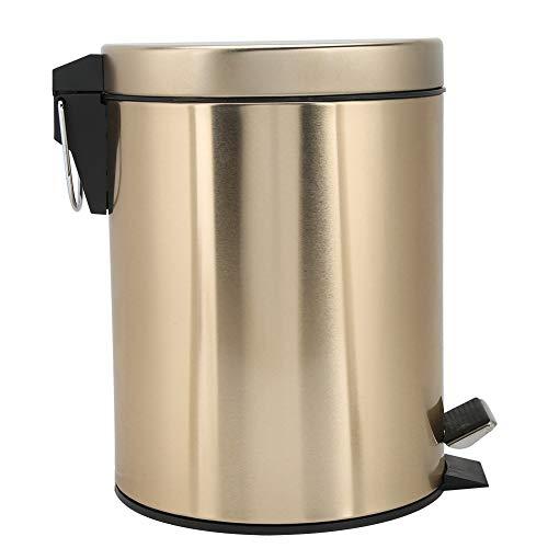 OIHODFHB Papelera de acero inoxidable con tapa para baño, cocina, 5 l