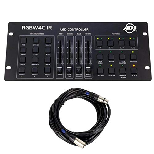 Best Price American DJ 32 Channel DMX Lighting Controller and Chauvet DJ 25 Foot DMX Cable