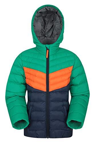Mountain Warehouse Seasons Gepolsterte Jacke für Kinder, geeignet für alle Jahreszeiten - wasserdichte Winterjacke, leicht & warm Grün 9-10 Jahre