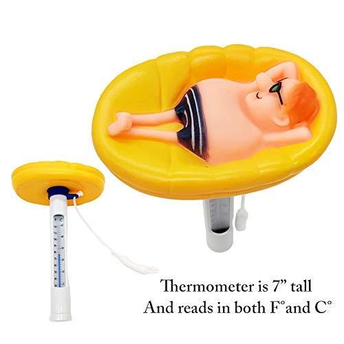 bozitian Schwimmende Pool Thermometer Wasser Temperatur Thermometer Mit Saite Schwimmbad Bruchfest Thermometer Baby-Pool Thermometer Für Outdoor & Indoor Pools, Spas, Hot Tubs Aquarien & Fischteiche
