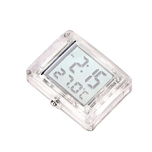 AOZBZ Auto Fahrrad Digital Thermometer Uhr Küche Digital Thermometer Auto Fahrrad Uhr