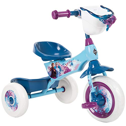 Huffy Frozen 2 Kid Tricycle 3 Wheel Trike with Two Storage Bins Blue 10 inch