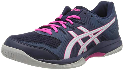 ASICS Damen 1072A034-401_40,5 Volleyball Shoes, Navy, 40.5 EU