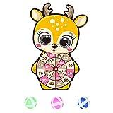 Drinmis Klett Dartscheibe for Kinder mit 3 Sticky Balls,Tier Motiven Wandbehang Safe Dart Game Toy...