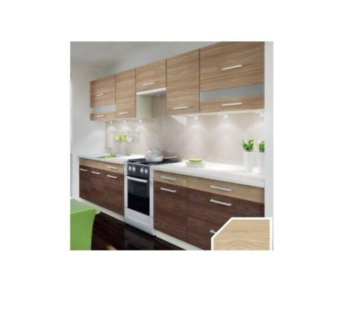 naka24 Küche Schränke Küchenzeilen Cuba Libre 320/260 cm cm Eiche Andante/Eiche Allegro