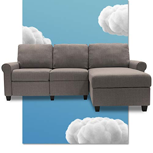 Serta Copenhagen Reclining Sectional with Right Storage Chaise - Moonlight Gray