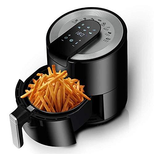 MOSHUO Freidora de Aire Desengrasante Multifuncional Inteligente sin Aceite Freidora eléctrica de Gran Capacidad Freidora de Aire para cocinar Baja en Grasa sin Aceite (Color: Negro, Tamaño: 29x34cm)