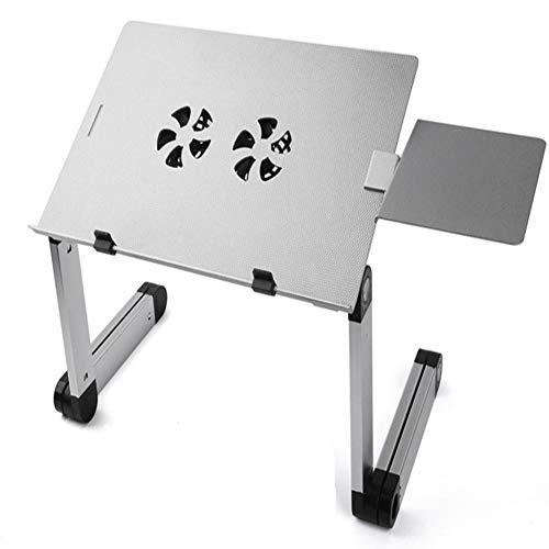 RASHLD Tabla del Ordenador portátil del Ordenador portátil del Soporte del Escritorio del Ordenador portátil Plegable con el Tablero de ratón para Bandeja de Cama,Gris