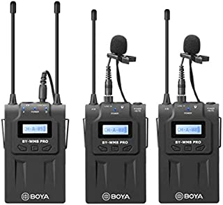 BOYA BY-WM8 Pro-K2 UHF Dual-Channel Wireless Microphone Receiver+Transmitter A+B+ LCD Screen for Canon Nikon Sony DSLR Camera